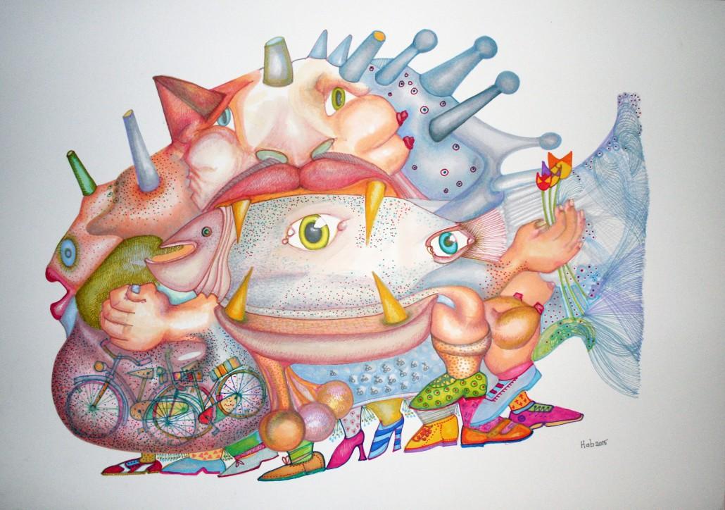 Hab Vandenwijngaard, The pregnant bike fish