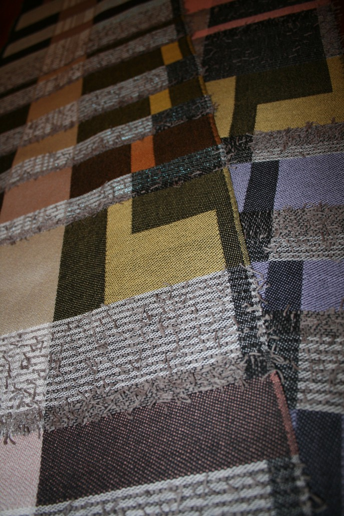 """Hraunfossar"" - Textile Art by Scarlett"