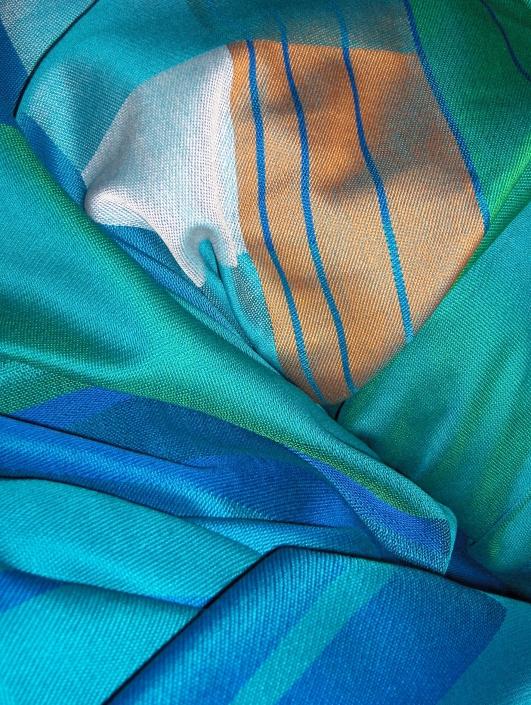 """Embrace - Textile Art by Scarlett"