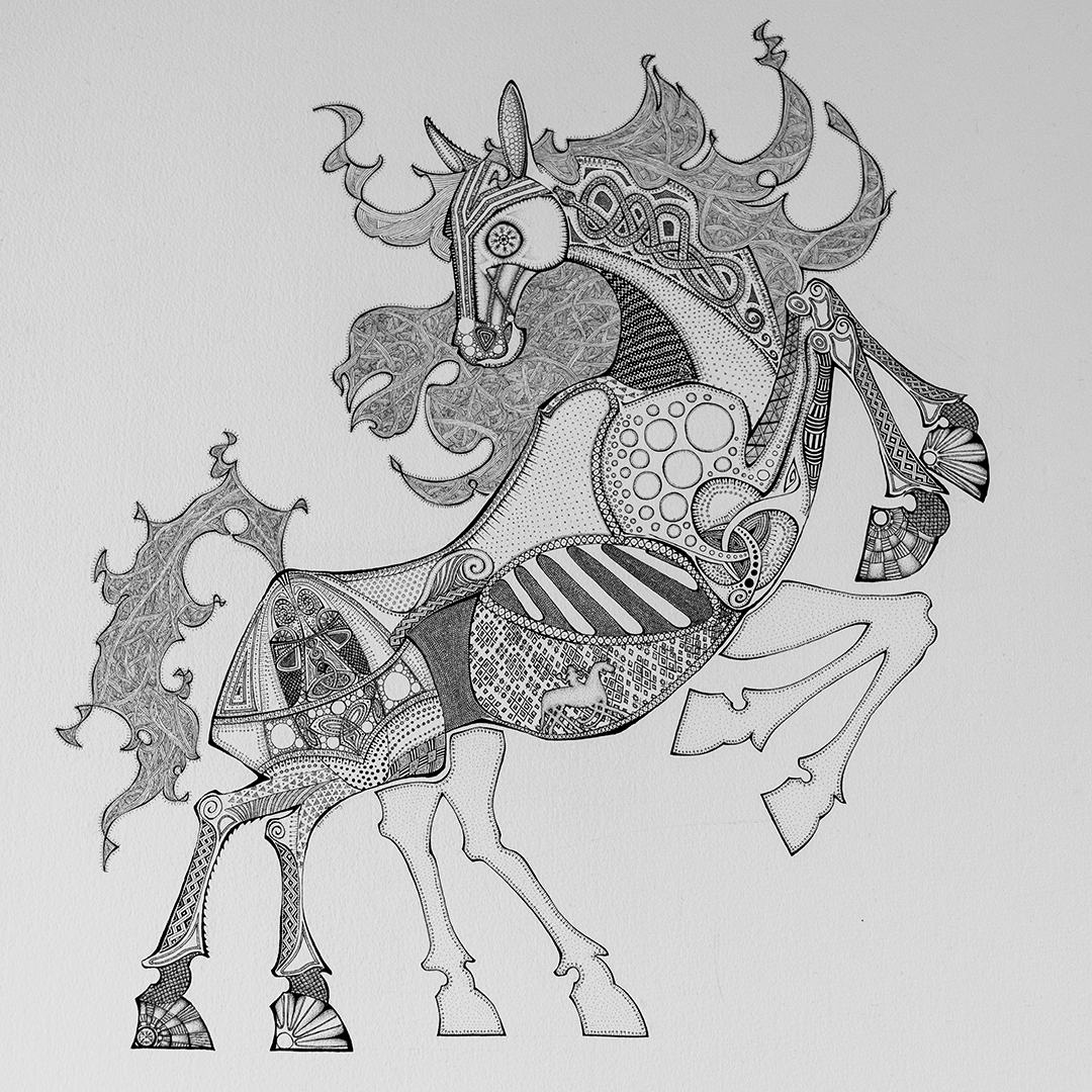 Sleipnir, the eight-legged horse ridden by Odin