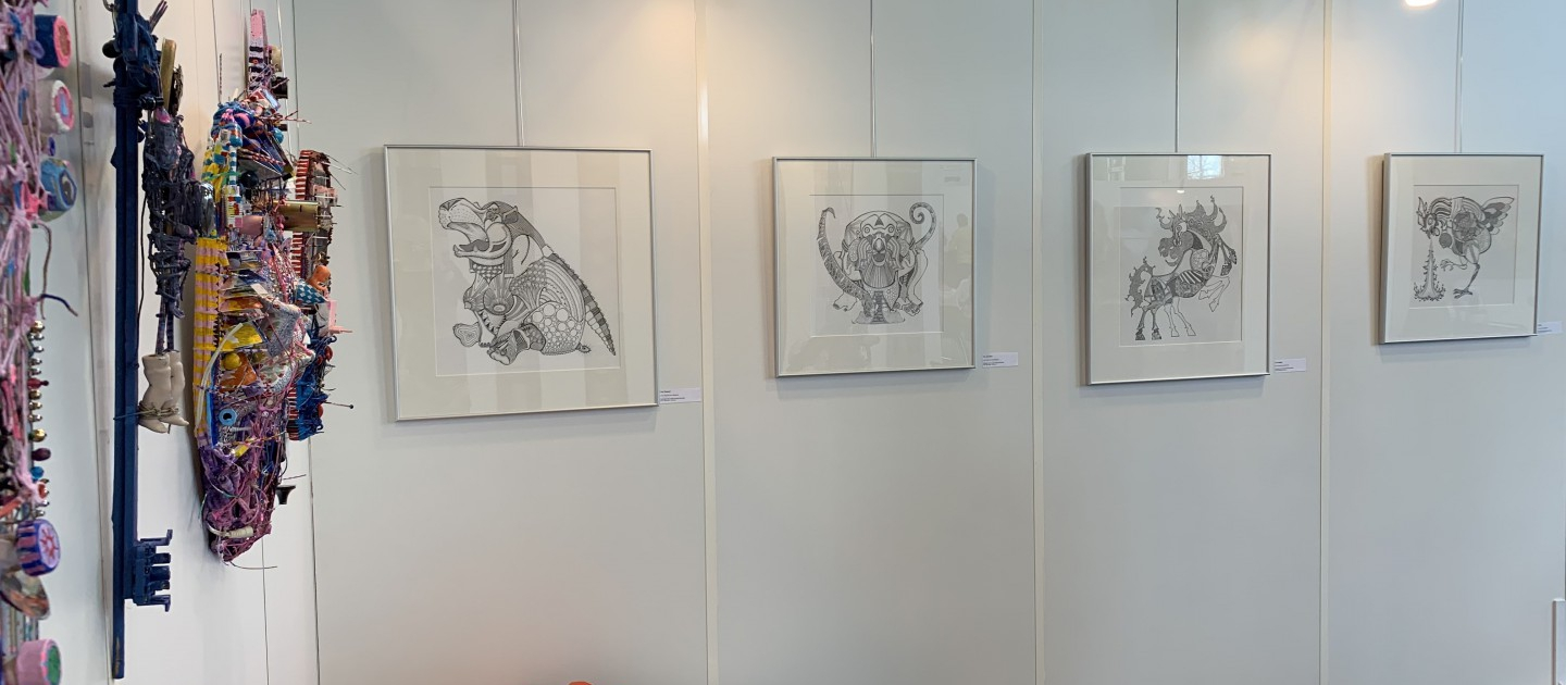 Illustrations by Floyd van den Wijngaard at Art Nordic 2019