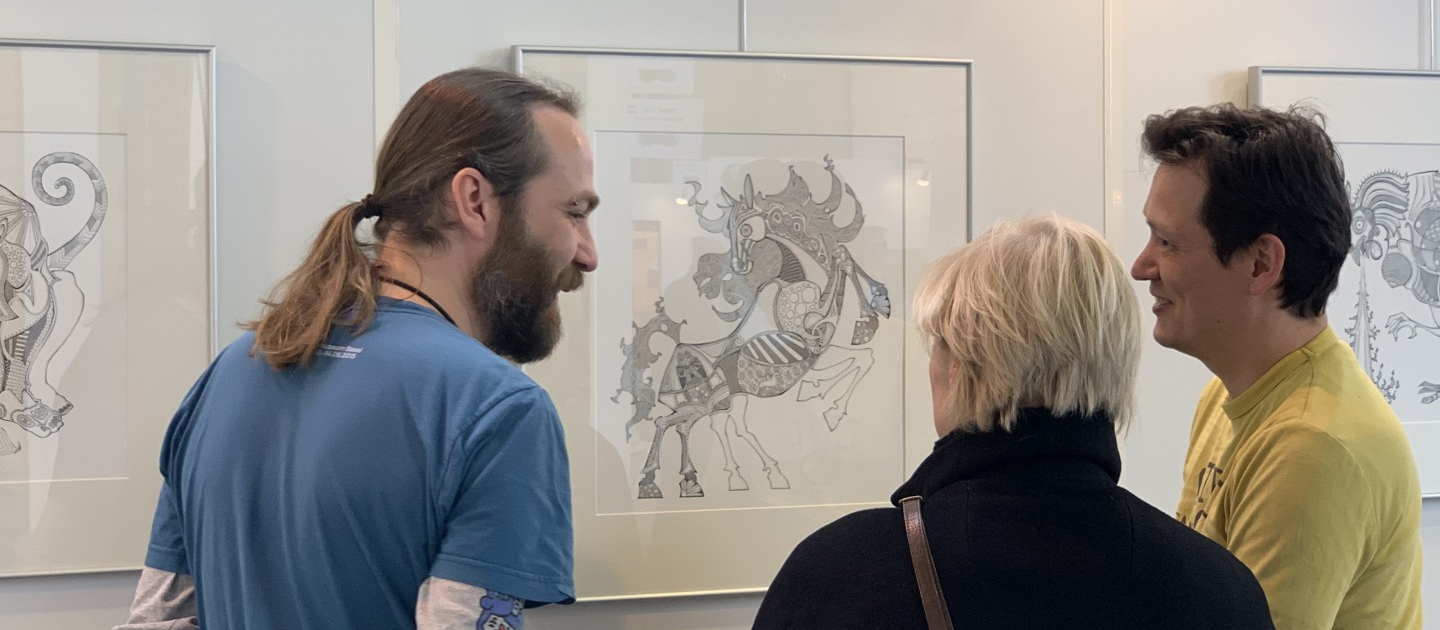 Illustrations by Floyd van den Wijngaard at Art Nordir 2019
